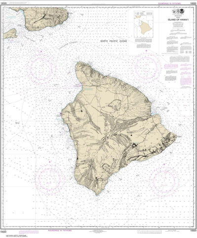 Buy map Island Of Hawai'i (19320-17) by NOAA