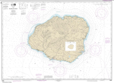 Buy map Island of Kaua'i (19381-9) by NOAA