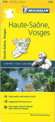 Buy map Michelin: Haute-Saone, Vosges Road and Tourist Map by Michelin Travel Partner