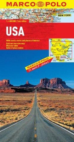 Buy map United States by Marco Polo Travel Publishing Ltd