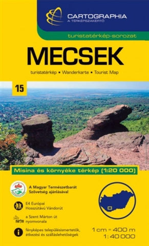 Buy map Mecsek, Hungary by Cartographia