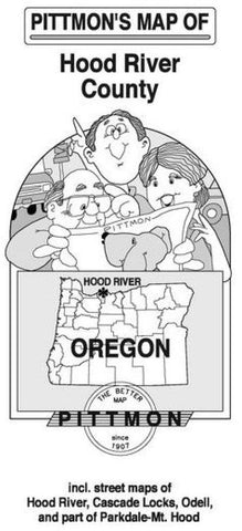 Buy map Hood River County, Oregon by Pittmon Map Company