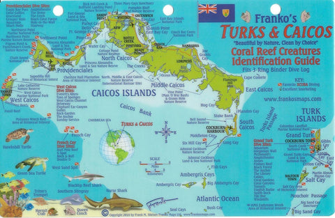 Buy map Caribbean Fish Card, Turks and Caicos 2010 by Frankos Maps Ltd.