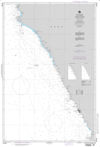 Buy map Coast Of Peru - Paita To Pisco (NGA-22008-35) by National Geospatial-Intelligence Agency