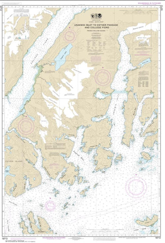 Buy map Unakwik Inlet to Esther Passage and College Fiord (16712-1) by NOAA