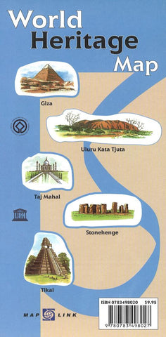 Buy map World Heritage Map (UNESCO) by Map Link