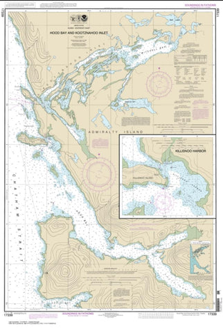 Buy map Hood Bay and Kootznahoo Inlet (17339-13) by NOAA