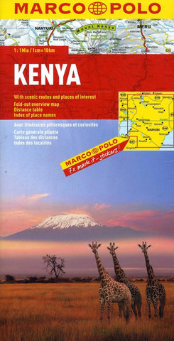 Buy map Kenya by Marco Polo Travel Publishing Ltd