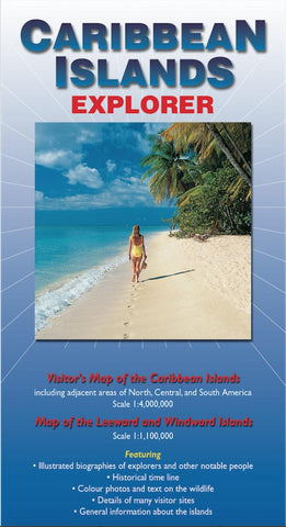 Buy map Caribbean Islands Explorer Map by Ocean Explorer Maps