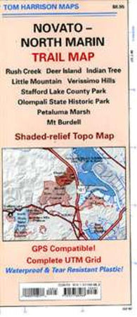 Buy map Marin, North and Novato, California Trail Map by Tom Harrison Maps