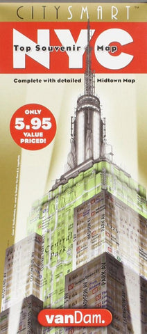 Buy map New York City Midtown CitySmart by VanDam