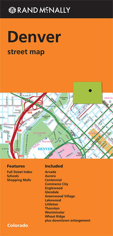Buy Map Denver Colorado By Rand Mcnally Yellowmaps Map Store
