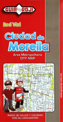 Buy map Morelia, Mexico by Guia Roji