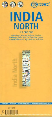 Buy map India, North by Borch GmbH.