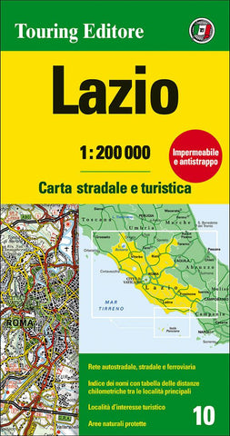 Buy map Lazio, Italy by Touring Club Italiano