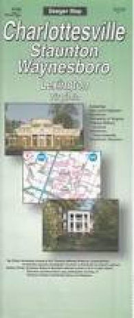 Buy map Charlottesville, Staunton, Waynesboro and Lexington, Virginia by The Seeger Map Company Inc.