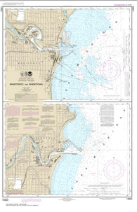 Buy map Manitowoc and Sheboygan (14922-20) by NOAA