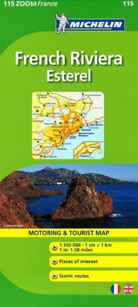 Buy map French Riviera, Zoom Map (115) by Michelin Maps and Guides