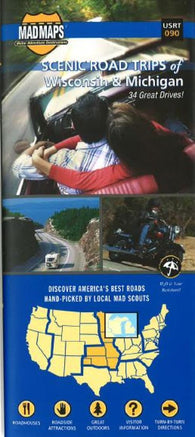 Buy map Wisconsin and Michigan, Regional Scenic Tours by MAD Maps