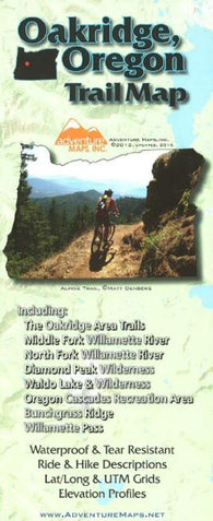 Buy map Oakridge, Oregon, Trail Map by Adventure Maps
