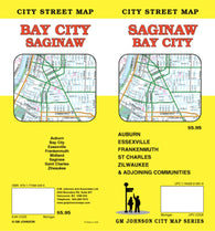 Buy map Saginaw and Bay City, Michigan by GM Johnson