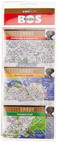 Buy map Boston, Massachusetts StreetSmart Mini Map by VanDam
