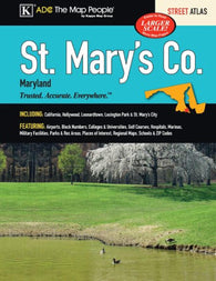 Buy map St. Marys County, MD, Street Atlas by Kappa Map Group