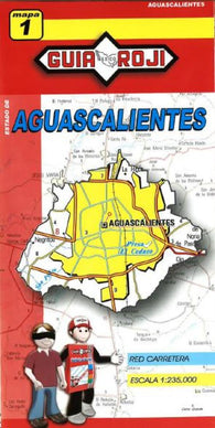 Buy map Aguascalientes, Mexico, State Map by Guia Roji