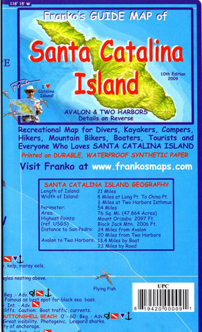 Buy map California Map, Santa Catalina Island Guide and Dive, folded, 2009 by Frankos Maps Ltd.