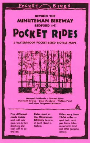 Buy map Beyond the Minuteman Bikeway : Bedford, Massachusetts (1-5) by Rubel BikeMaps