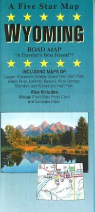 Buy map Wyoming by Five Star Maps, Inc.
