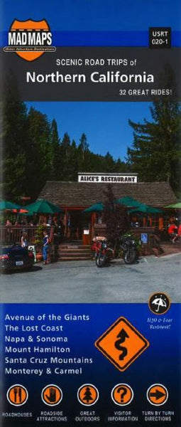 Buy map California, Northern, Regional Scenic Tours by MAD Maps