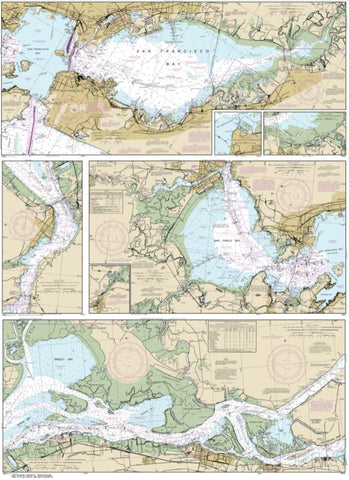 Buy map San Francisco Bay to Antioch (18652-36) by NOAA