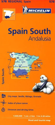 Buy map Spain, Southern, Andalucia (578) by Michelin Maps and Guides