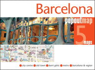 Buy map Barelona, Spain PopOut Map by PopOut Products, Compass Maps Ltd.