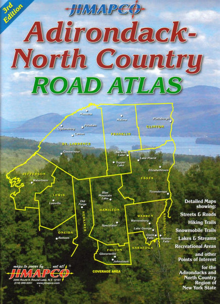 Buy map Adirondack-North Country, New York, Road Atlas by Jimapco