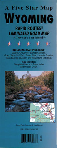 Buy map Wyoming Rapid Routes by Five Star Maps, Inc.