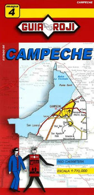 Buy map Campeche, Mexico, State Map by Guia Roji