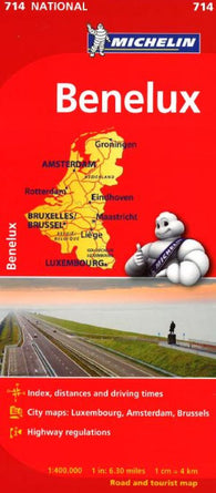 Buy map Benelux- Belgium, Luxembourg, and the Netherlands (714) by Michelin Maps and Guides