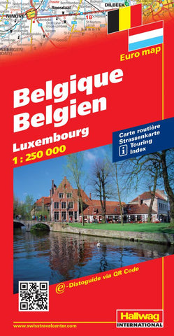 Buy map Belgium and Luxembourg by Hallwag