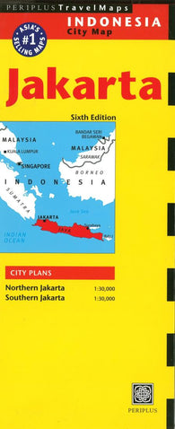 Buy map Jakarta, Indonesia by Periplus Editions