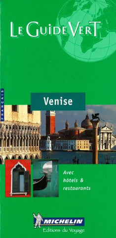 Buy map Venice, Italy, Green Guide, French Edition by Michelin Maps and Guides