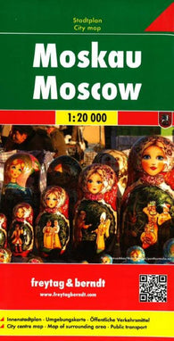 Buy map Moscow, Russia by Freytag-Berndt und Artaria