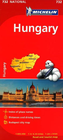Buy map Hungary (732) by Michelin Maps and Guides