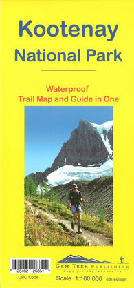 Buy map Kootenay National Park, Trail Map and Guide in One (waterproof) by Gem Trek