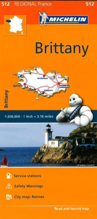 Buy map Brittany (512) by Michelin Maps and Guides