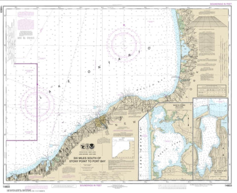 Buy map Six Miles south of Stony Point to Port Bay; North Pond; Little Sodus Bay (14803-28) by NOAA