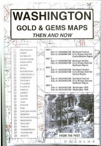 Buy map Washington, Gold and Gems, 5-Map Set, Then and Now by Northwest Distributors
