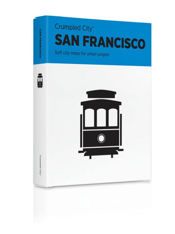 Buy map San Francisco, California Crumpled City Map by Palomar S.r.l.