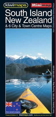 Buy map South Island, New Zealand, Minimap by Kiwi Maps